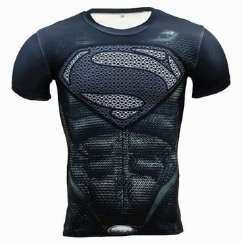 VONE2IS New Fitness Compression Shirt Men Anime Superhero Punisher Skull Captain Americ 3D T Shirt Bodybuilding Crossfit tshirt
