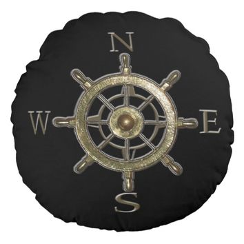 West Coast Compass Round Pillow
