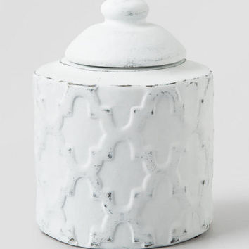 White Lidded Jar