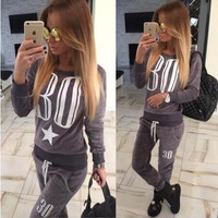 Fashion Floral Printed Women Casual Sweatshirt Jumper Shirt Top Blouse _ 10232