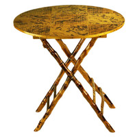 Anneliese Folding Table, Tortoise, Bistro Tables