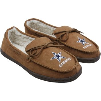 Dallas Cowboys Moccasin Slippers - Tan