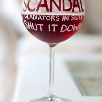 SCANDAL Wine Glass: Olivia Pope Fishbowl Wine Glass