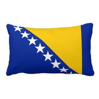 Pillow with flag of Bosnia and Herzegovina