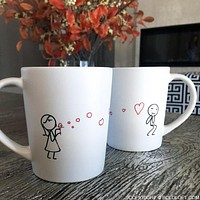 From My Heart to Yours Too™ His and Hers Coffee Mugs, Matching Couple Mugs Set, Valentines Day Gifts for Him, Boyfriend Gift Husband Gift, Couples Gifts, His and Hers Couple Gifts