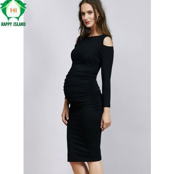 Christmas Maternity Clothes Elastic Maternity Dress Nice Evening Party Dress For Pregnant Women Elegant Summer Lady Vestidos