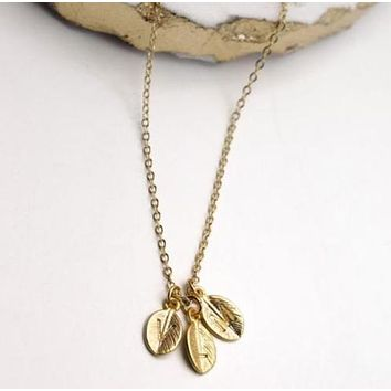 Initial Leaf Necklace
