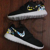 Vintage Batman Nike Roshe Run Black Custom