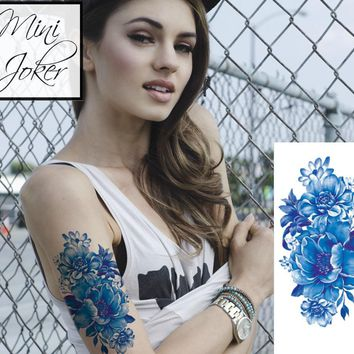 Mini Joker | Awesome Tattoos Ocean Blue Flower Tattoo