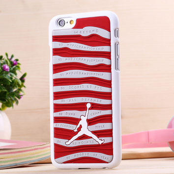 3D Jordan sneakers Sole PVC Rubber Cover For iPhone 6 6S 4.7 Inch Jump man Phone bag Case Phone cover