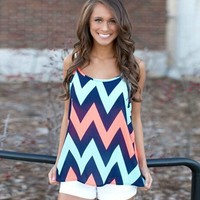 Summer Perfection Chevron Tank
