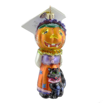 Christopher Radko Mrs Howlway Halloween Glass Ornament