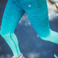 Ombre Workout Leggings in Teal