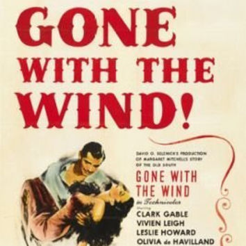 Gone with the Wind Movie Poster Clark Gable Vintage 9