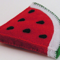 Felt Food Watermelon Slice WOOL BLEND