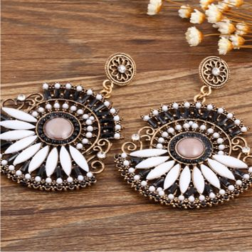 Fashion personality retro earrings exquisite high earrings jewelry