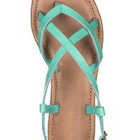jax strappy sandal in sea green