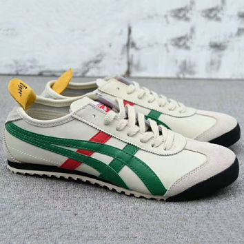 ASICS GEL LYTE Onitsuka Tiger Women Men Running Sport Casual Shoes Sneakers Beige+Green G-A0-HXYDXPF