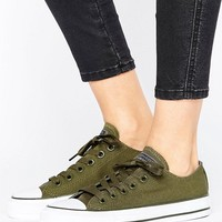 Converse Chuck Taylor All Star Ox Trainers In Khaki at asos.com