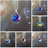 Galaxy Nebula Space Pendant Necklace