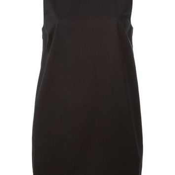 ICIKIN3 Red Valentino plunging back dress with a bow detail