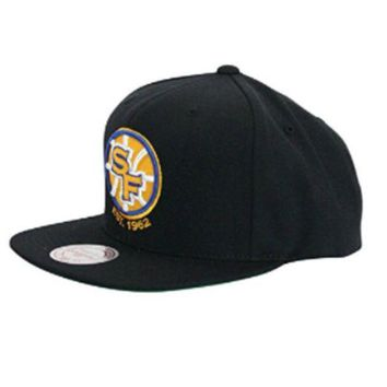 ONETOW Mitchell N Ness San Francisco Golden State Warriors Black Sf Snapback Hat Cap