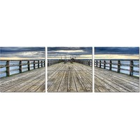 Along the Pier Triptych Wall Art