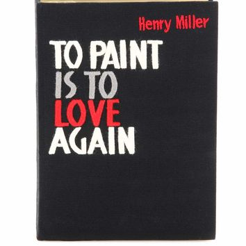 To Paint Is To Love Again book clutch