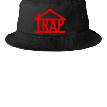 trap house embroidery hat - Bucket Hat