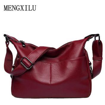 women leather handbag female casual totes ladies shoulder bag design zipper pu hobos women bag messenger bags bolsa feminina
