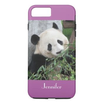 Cute Giant Panda, Purple, Radiant Orchid, Custom iPhone 8 Plus/7 Plus Case