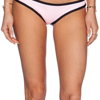 Lisa Lozano Neoprene Bikini Bottom in Pink