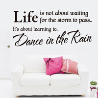 Hot Fashion Dance In The Rain Removable Waterproof Vinyl Wall Sticker Decor Art = 1705934852