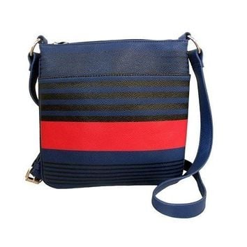 Fashion Striped Crossbody Bag