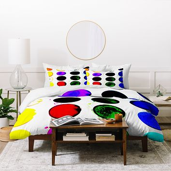 Leeana Benson Techno Watercolor Duvet Cover