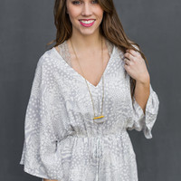 These Days Romper in Grey