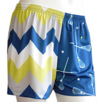 Sublimated Sportabella NAVY CHEVRON Loose Shorts - Sportabella, Ltd Store