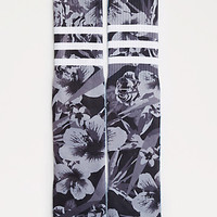 Grayscale Hibiscus Sublimated Crew Socks