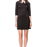 Black Old School Collar Mini Dress