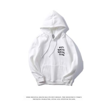 Best Deal Online Men's Hooded Sweatshirt Anti Social Social Club Fashion Hoodie AntiSocialSocialClub White