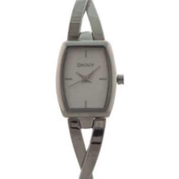 NY2234 Crosswalk Stainless Steel Half-Bangle Bracelet Watch by DKNY (Women)