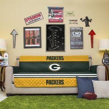 Green Bay Packers Sofa Furniture Protectors With Elastic Straps