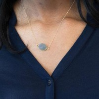 Shiny Stylish Gift Jewelry New Arrival Irregular Resin Pendant Chain Necklace [6464853761]