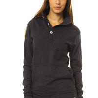 Unisex 1/4 Button-Up Sweatshirt