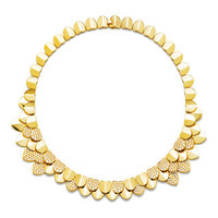 Une Île D'Or Necklace in Yellow Gold and White Diamonds