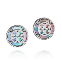 WREN LOGO BUTTON EARRING