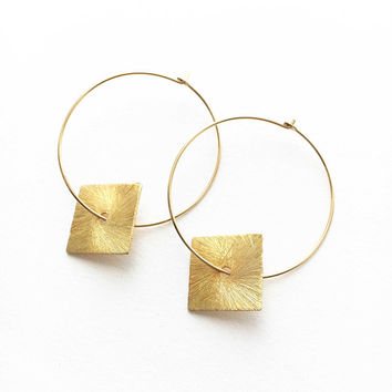 Geometric Hoop Earrings • Gold Hoop Earrings • Gold Hoops • Bohemian Hoop Earrings • Minimalist Hoop Earrings • Gold Geometric Hoops