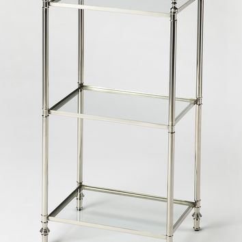 Dorie Polished Nickel Accent Table