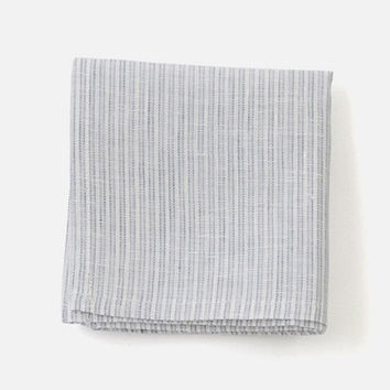 Fog Linen Work Handkerchief Grey Stripe
