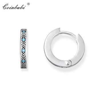 Hoop EaHoop Earring Creole Asian Ornament For Women Men Ts High Quality Earring Thomas 925 Sterling Silver 2019 Fashion Jewelry